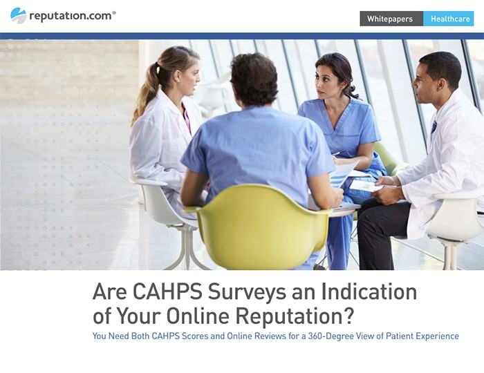 Are CAHPS Surveys an Indication of Your Online Reputation?